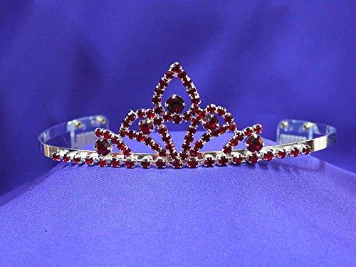 Ruby Red Crystal Tiara