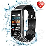 Fitness trackers watch waterproof Smart watches Heart rate monitor fit Sports watch pedometer step counter calorie GPS tracker fitness watch bit Sleep monitor for men women kids Android and iOS Phones (fitness trackers)