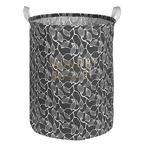 MOPOLIS Foldable Cotton Linen Washing Clothes Laundry Basket Sorter Bag Hamper Storage (Style - 2# Leaves C)