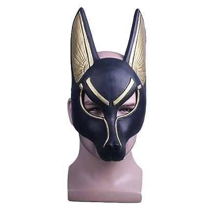 nihiug Máscara De La Muerte Anubis Accesorios De Halloween Jackal Wolf Mountain Dog Wolf Head Mask