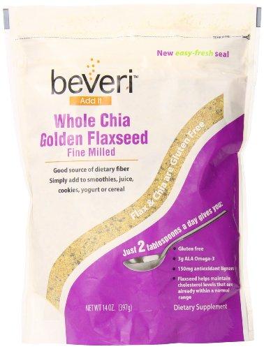Beaux Nutrition Beveri blanchi or graines de lin avec Chia, 14 once