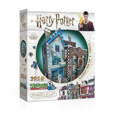 Wrebbit 3D Puzzle Harry Potter Diagon Alley Collection - Ollivanders and Scribbulus (295-Piece): Toys & Games
