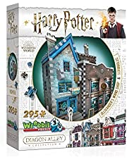Wrebbit 3D Puzzle Harry Potter Diagon Alley Collection - Ollivanders and Scribbulus (295-Piece)
