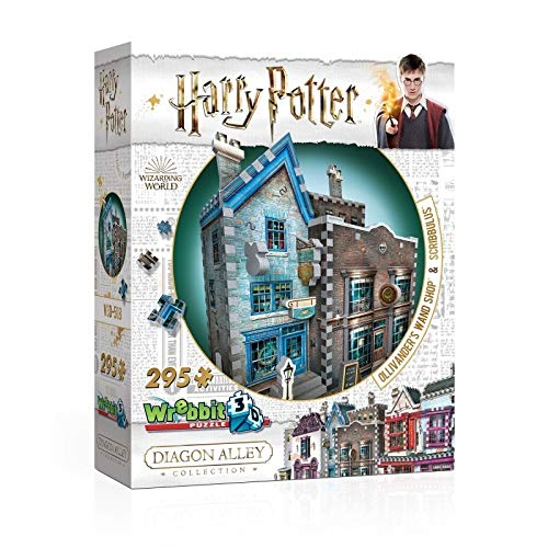 Wrebbit 3D - Harry Potter Ollivander's Wand Shop and Scribbulus 3D Jigsaw Puzzle - 295 Pieces
