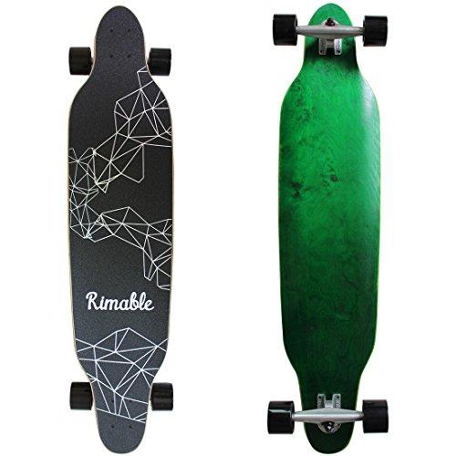Rimable 42 Inch Freestyle Topmount Longboard GREENBLACK