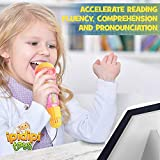 Echo Mic for Kids, Toddlers - Magic Microphone with Multicolored Flashing Light and Fun Rattle - Pink and Yellow - Speech Therapy Feedback Toy - Retro Gift For Boys, Girls Who Love Singing and Music