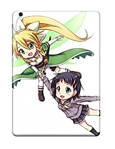 New Snap-on DanRobertse Skin Case Cover Compatible With Ipad Air- Anime White Sword Art Online Sao Girls