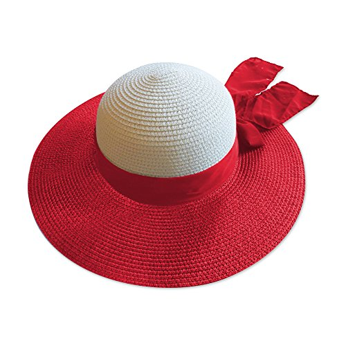 - Moskus Gear Summer - Vintage Sun - Beach Floppy Hat For Women w Medium to Large Head - (Red) from