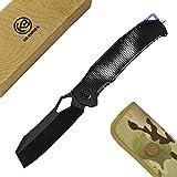 """KB280 Sobek Folding Knife, 3.94"""" Black Oxide Bohler"""