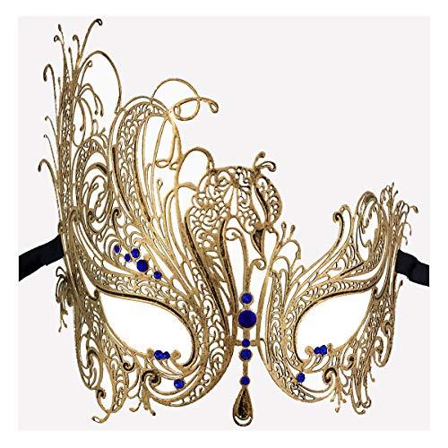 Xvevina Luxury Mask Masquerade Women Venetian Party Masquerade Mask (Swan -