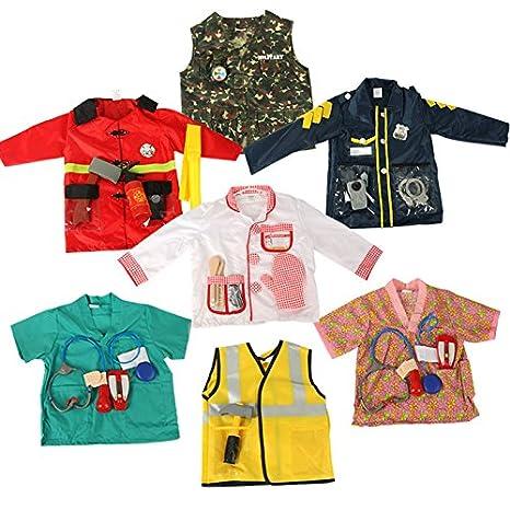 3-7 anni One Size Pompiere BAMBINI GIOCO DI RUOLO Costume Set Pendente FINGERE Costume Halloween e assessories