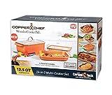 Copper Chef WonderCookerXL 14-in-1 Multi Cooker Set - 4PC Wonder Cooker XL - 12.5QT Capacity