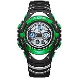 ALPS Kids Boys Girls MultiFunction Digital LED Waterproof Sport Watch (Green)