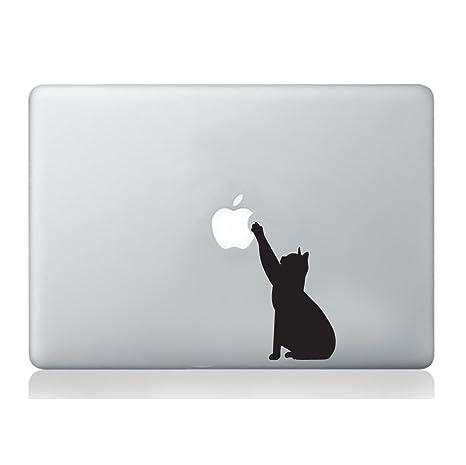 Wall4stickers Adhesivo de Vinilo para Ordenador portátil, diseño de Gato Macbook