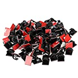 Tools & Hardware : GWHOLE 100Pcs 3M Adhesive Cable Clips Cord Organizer Wire Management for Car, Office and Home