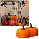 Led Candles Pumpkin Tea Light for Halloween Decorations Outdoor Party Flicker Amber Battery Operated Tealights Novelty Candles for Party Centerpiece Home Décor 24pcs