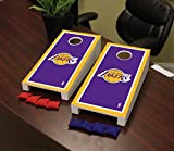 Victory Tailgate Los Angeles LA Lakers NBA Basketball Desktop Cornhole Game Set Border Version