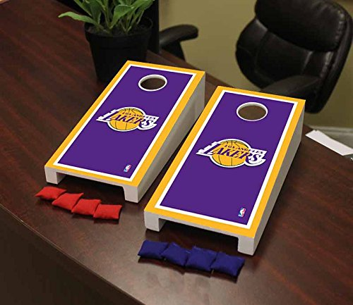 Victory Tailgate Los Angeles LA Lakers NBA Basketball Desktop Cornhole Game Set Border Version by Victory Tailgate