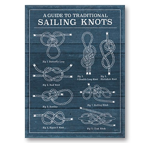 Gango Home Decor Coastal Vintage Sailing Knots I by Mary Urban (Printed on Paper); One 12x16in Unframed Paper -