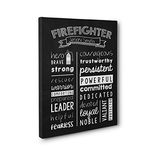 Personalized FireFighter Wall Art Canvas Gallery Wrap - Graduation Gift