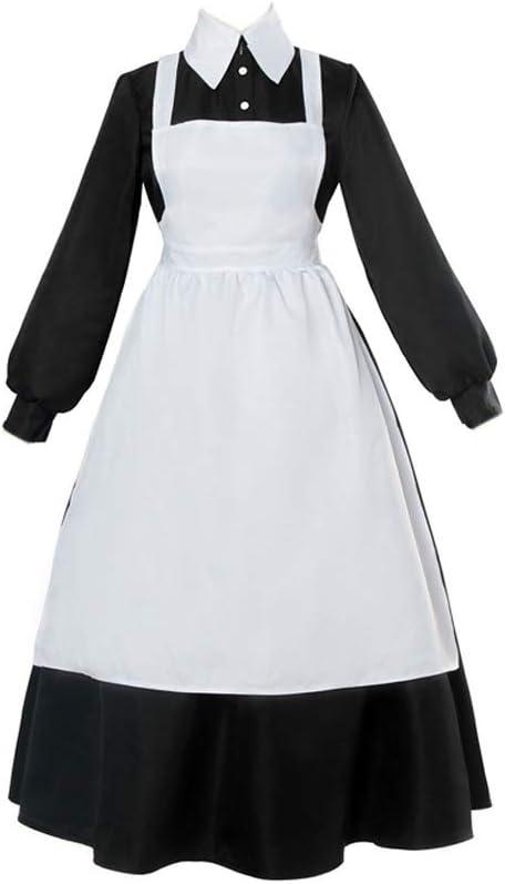 Anime The Promised Neverland Cosplay disfraz Emma Norman Ray Isabella Krone Cosplay traje camisa blanca pantalones vestido negro vestido de sirvienta ...