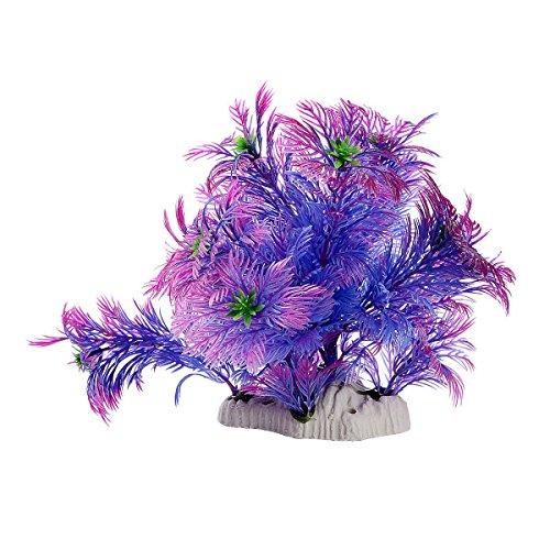 Saim Plastic Artificial Plant Aquarium Decor Fish Tank Decoration Purple