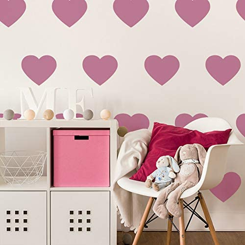 sin costuras Plantilla de pl/ástico reutilizable para pared para ni/ños dise/ño de corazones 65 x 95 cm repetitiva