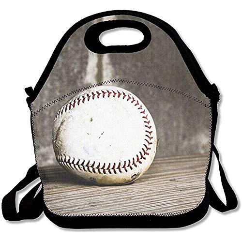 MLikdfjapf GRATIANUS10 Lunch Tote - Baseball Wallpaper Waterproof Reusable Cooler Bag Men Women Adults Kids Toddler Nurses Adjustable Shoulder Strap - Best Travel Bag Handbag for School Office