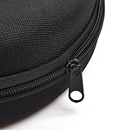 Case Star ® Black Color Hard Shell Large Carrying Headphones Case / Headset Travel Bag for SONY MDR-ZX100 ZX110 ZX300 ZX310 ZX600 MDR-10RBT Headphones / Audio Technica Headphone with Space for Cable, AMP, Earpads, iPod, Parts and other Accessories