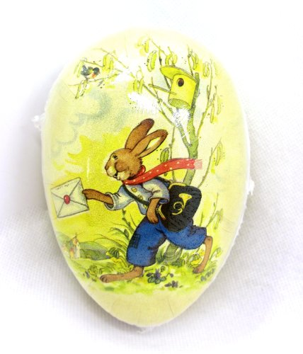 Easter Egg Treat Filling Container,Easter Bunny Delivering Mail,4.5