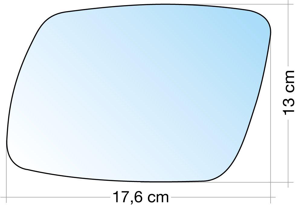 Cora 3319191 Specchio con Piastra SX Cromato