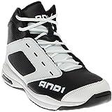 AND1 Men's Typhoon Mid Basketball Shoe,Black/White/Black,US 11 M