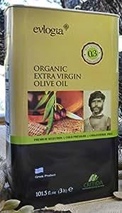 Authentic Cretan (Greek) Organic Extra Virgin Olive Oil (Tin Can 3 lt)