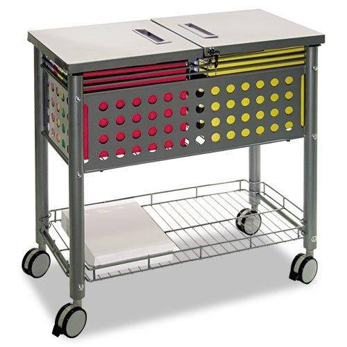 Smartworx File Cart, 1-Shelf, 29-1/8w x 14d x 28-3/8h, Matte Gray