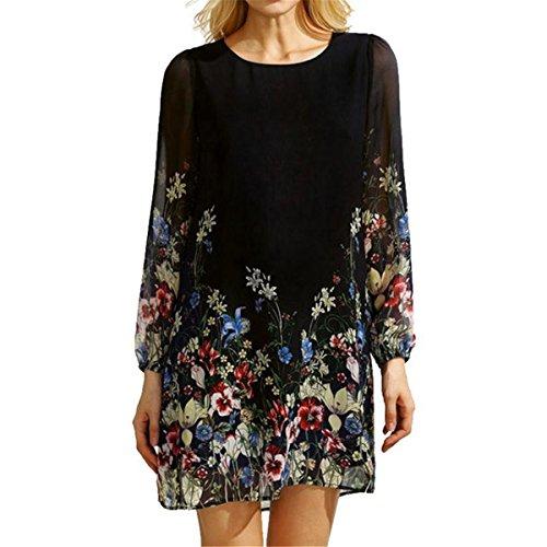 c172e7a6 85%OFF Culater Camisetas Mujer de manga larga floral impresa algodón ...