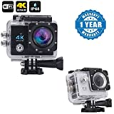 Captcha Wi-Fi 4K Waterproof Sports Action Camera - 4K Ultra HD, 16MP,2 Inch LCD Display With Action Camera 1080p 2-Inch Lcd 140 Degree Wide Angle Lens