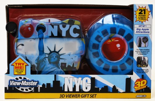 Three Viewmaster Reels (Basic Fun NY ViewMaster Statue of Liberty Gift Set: Famous Buildings and)