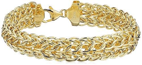 14k Yellow Gold Fancy Mesh Bracelet, 7.5