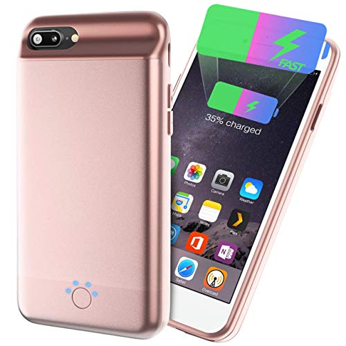 Battery Charger Case for iPhone X Case Charger Protective Rechargeable Battery Power Charger Case-D1