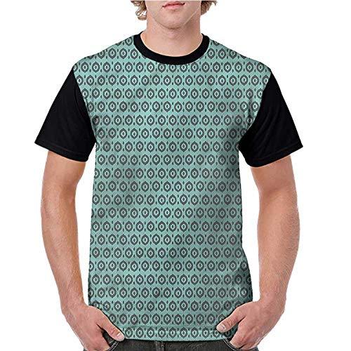 Women T Shirts Fashion,Ikat,Traditional Tribal Dots S-XXL Print Short Sleeve
