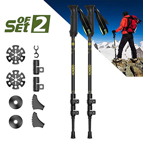 QSEKCH -Trekking Poles-Adjustable Hiking Walking Poles, used for sale  Delivered anywhere in Canada