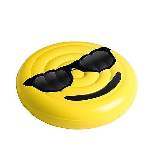 Beach Toy ® - Colchoneta inflable para piscina de Smiley Sun Emoji, flotador para piscina, Mega Fun Party: Amazon.es: Juguetes y juegos