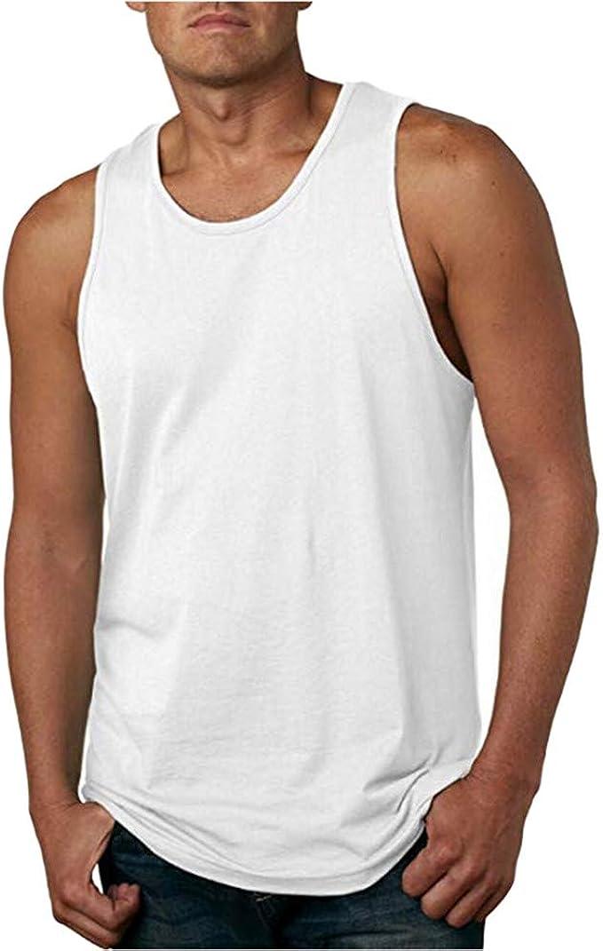 Camisetas de Tirantes Hombres, SHOBDW Moda Casual Vintage Lavado Sin Mangas Tank Tops Chaleco Deporte Gimnasio Correr Blusa de Talla Grande Camiseta de Cuello Redondo para Hombre: Amazon.es: Ropa y accesorios