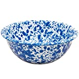Enamelware Cereal Bowl - Blue Marble