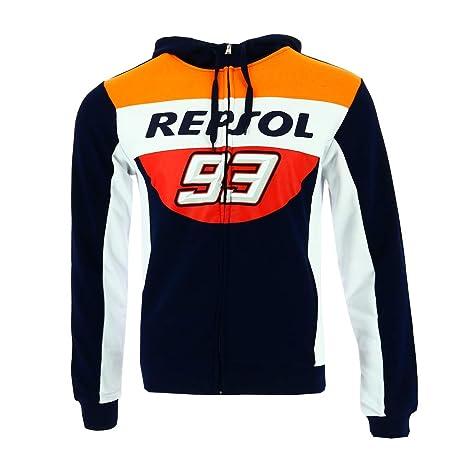 HONDA Repsol Marc Marquez 93 Moto GP Blu Felpa Con Cappuccio Ufficiale 2018 95da827a6ed1