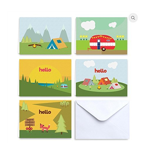 (Paper Frenzy Camp Notes Hello From Camp - 25 pack with White Envelopes)