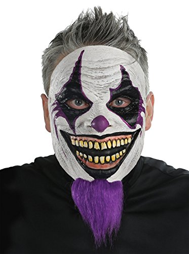 Scarry Mask (Morris Bearded Clown Mask Costume Halloween Party Scarry Adult +eBook)