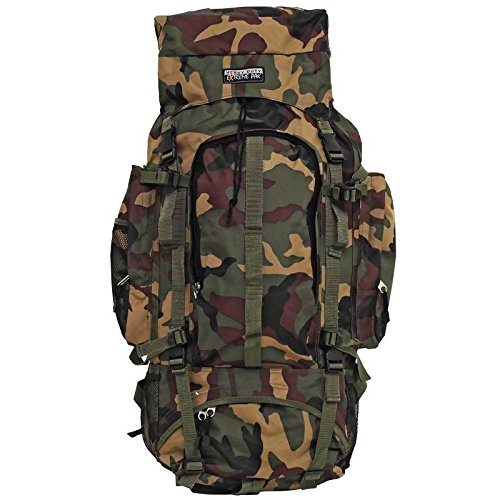 New Large Green 34'' Mountaineers Backpack Hiking Camping Gear Day Pack Rucksack by Outdoor Backpack Pockets
