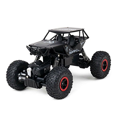 AHAHOO RC Off-Road Vehicle 1:18 scale Remote Control Cars 2.4Ghz 4WD High Speed Monster Truck Electric Rock Climber Desert Buggy (Black)