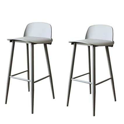 2Pcs Vintage Counter Height Stool Set Ergonomic  Soft Fabric Bar Chair Anti-slip